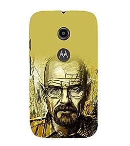 printtech Heisenberg Bad Back Case Cover for Motorola Moto E2 / Motorola Moto E (2nd Gen)