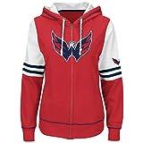NHL Washington Capitals Women's Turnbuckle Fleece, Athletic Red/White/Athletic Navy, X-Large