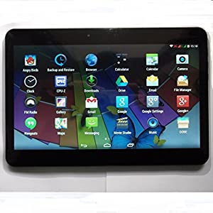 """10.1"""" Google Android 4.4.2 phablet Tablet PC MT6582 Quad Core Webcam Wifi Mid Support 3G WCDMA Phone Call Unlocked Smartphone Smart phone GPS Bluetooth FlashLight 1.0GHz 2G RAM 8G ROM-Black"""