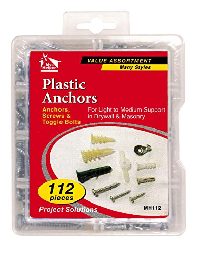 112-pieces-hollow-wall-anchor-kit-anchors-screws-toggle-bolts-many-styles