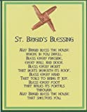 Saint Bridget/Brigid's Cross Irish House Blessing Holy Post Card