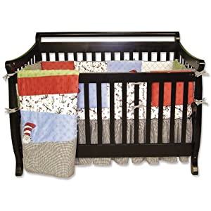Trend Lab Dr Seuss Cat Crib Set, 4 Piece