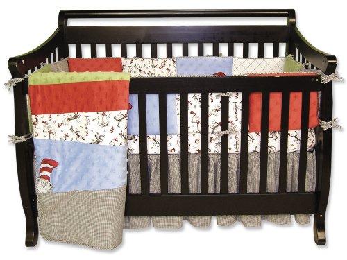Trend Lab Dr Seuss Cat Crib Set, 4 Piece