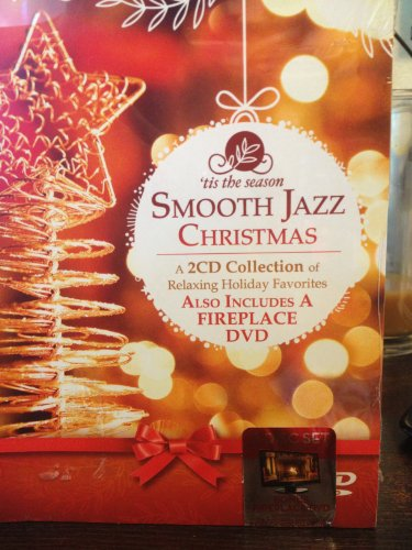 Smooth Jazz Christmas 2 CD / 1 DVD Collection - CDs with Relaxing Holiday Favorites and Fireplace DVD (Fireplace Cds compare prices)