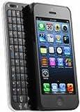 iPhone5専用 Bluetooth バッテリー内蔵スライドキーボード 一体型 ホワイト