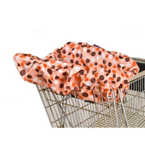 Wupzey Shopping Cart / Diner Cover - orange Polka Dot