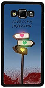PrintVisa Case Covers for Samsung Galaxy E7 (D7860, Love Signal Direction)