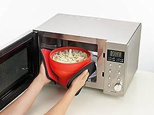 Lekue Popcorn Popper/Popocorn Maker, Red from Lekue