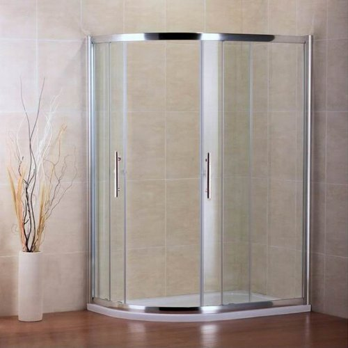 900x760mm Quadrant Shower Enclosure Door+Stone Tray (NS7-97+ASH7690 LEFT)
