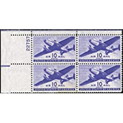 Plate Block Stamp Values