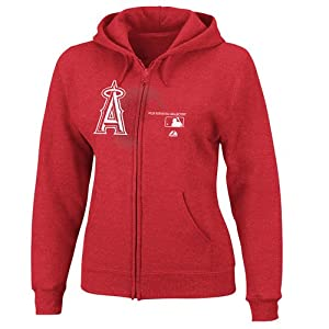 MLB Los Angeles Angels Ladies Change Up Fleece, Athletic Red by Majestic