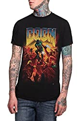 Official Doom Original Cover Mens T-shirt