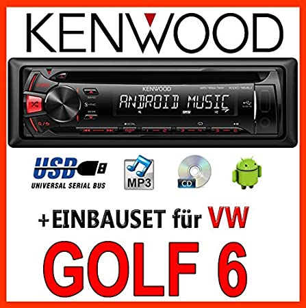 VW golf 6 plus/variant/jetta/6-kenwood kDC - 164 uR autoradio cD/mP3/uSB avec kit de montage