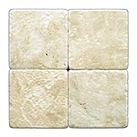 Durango Cream 6 X 6 Travertine Tumbled Tile