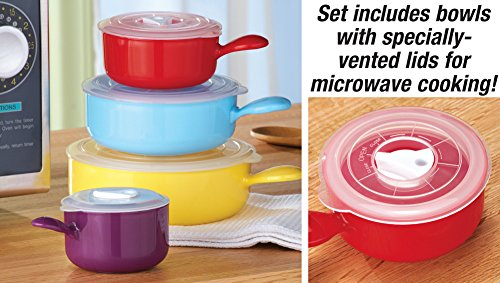 Colorful Microwave Bowls 8 Pc Set