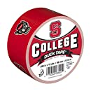 Duck Brand 240071 North Carolina State University College Logo Duct Tape, 1.88-Inch by 10 Yards, Single Roll