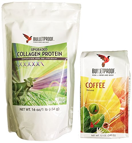Bulletproof Ground Coffee and Upgraded Collagen Protein Combo Pack (Bulletproof Coffee Set compare prices)