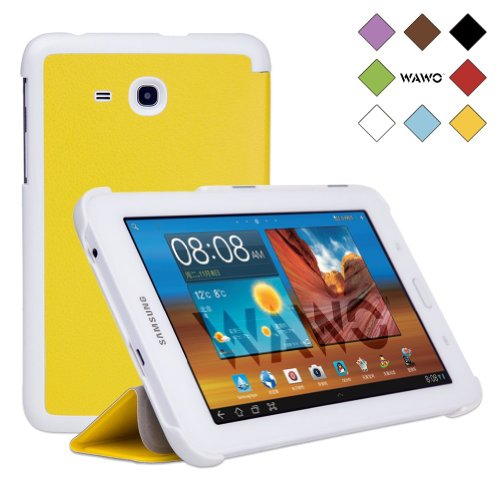 Wawo Samsung Tab 3 Lite 7.0 Inch Tablet Fold Case Cover - Yellow front-238122