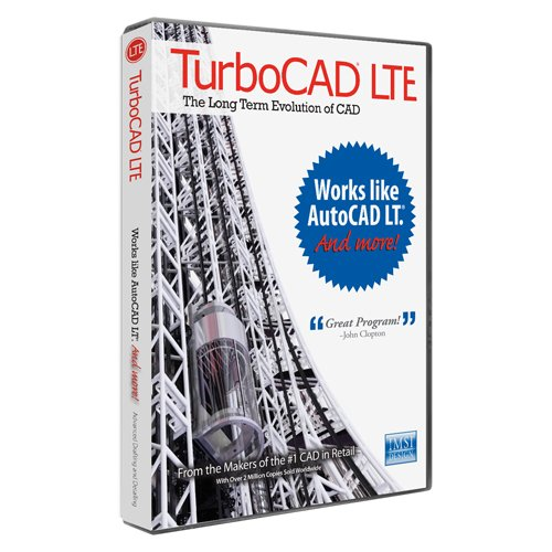 TurboCAD LTE Standard 6. 2D CAD Design Software. Works Like AutoCAD LT only better!