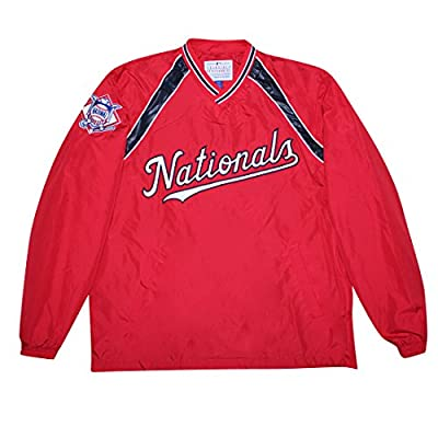 BIG & TALL WASHINGTON NATIONALS MLB Mens Athletic Wind Breaker Jacket with Lining