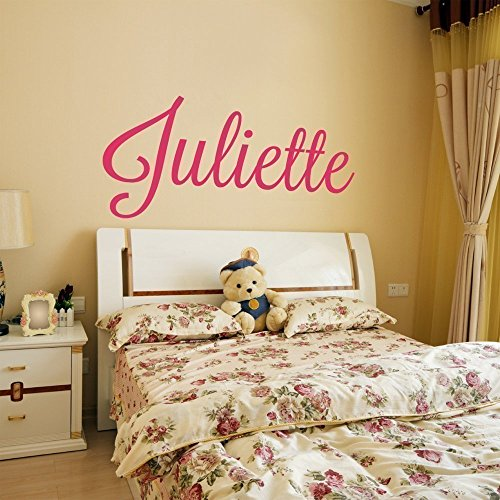 Custom Name Vinyl Wall Decal Sticker Art for Girls (Blue And Brown Wall Decals compare prices)