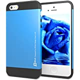 iPhone 5 Case, JETech® Two-Layer Slim Protective iPhone 5 5S Case Cover for Apple iPhone 5/5S (Blue)