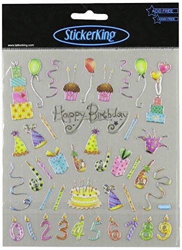 Multi-Colored Stickers-Happy Birthday Celebration