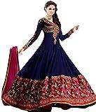 Varanga Blue Georgette Anarkali Suit KFAW15BS-ANR036