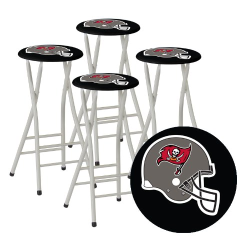 Best of Times Bar Stools, Tampa Bay Buccaneers, Set of 4