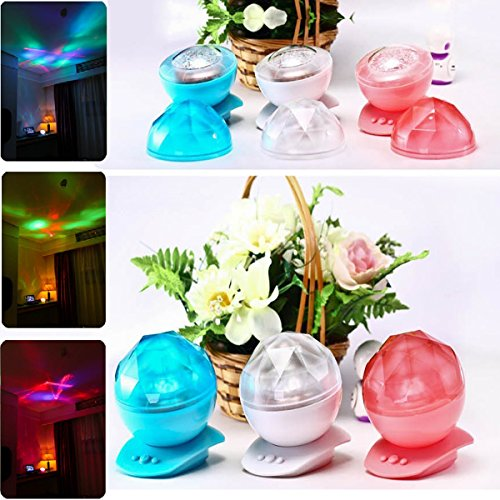 Glovion Diamond Shape Multicolor Aurora Projector Ocean Daren Waves Healing Aurora Marine Projector Led Laser Show Lamp Night Light For Gifts Three Colors For Choosing (Blue)