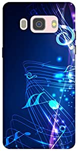 The Racoon Lean printed designer hard back mobile phone case cover for Samsung Galaxy J5 (2016). (music fall)
