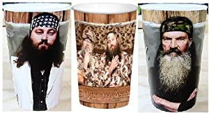 Duck Dynasty Tumbler Cups Set of 3