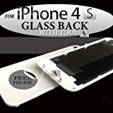 iPhone 4 replacement back glass battery cover in white