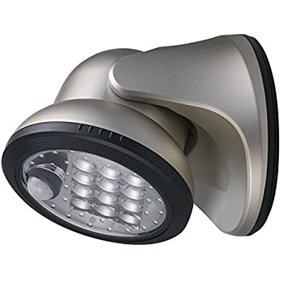 Fulcrum 20034-101 Wireless 12-LED Porch Light, Silver
