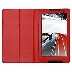 Acm Executive Leather Flip Case For Lenovo Tab S8 Tablet Tablet Front & Back Flap Cover Stand Holder Red