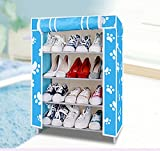 Evana Four Layer Printed Shoe Rack/Shoe Shelf/Shoe Cabinet,Easy Installation Stand For Shoes