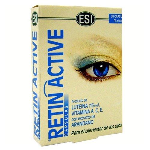 ESI RETIN ACTIVE 20 capsule con mirtillo luteina vitamina A C E benessere occhi