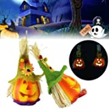 Generic Halloween Cute Pumpkin Scarecrow LED Light Party Haunted House Decor