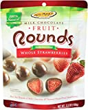 Mrs. May's Milk Chocolate Rounds, Natural Whole Strawberry, 3.5-Ounce