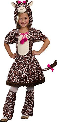 UHC Girl's Gigi Giraffe Outfit Child Fancy Dress Halloween Costume, S (4-6) (Gigi Giraffe Girls Costume)