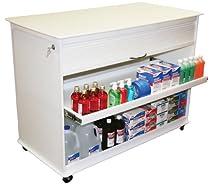 "Big Sale TrippNT 50592 Polyethylene 4' Cayman Lab Island Cart with 3"" Casters, 2' Width x 35"" Height, 1 Shelf"