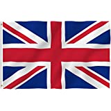 ANLEY® [Fly Breeze] 3x5 Foot United Kingdom UK Polyester Flag - Vivid Color and UV Fade Resistant - Canvas Header and Double Stitched - British Flags with Brass Grommets 3 X 5 Ft