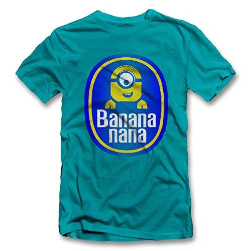 Banananana-T-Shirt-tuerkis-turquoise-2XL