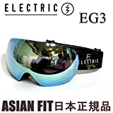 ELECTRIC(エレクトリック) エレクトリック ゴーグル ジャパンフィット EG3 CARTOON RASTA GREY GOLD CHROME JP(15-16 15 16)スノーボード ゴーグル ELECTRIC