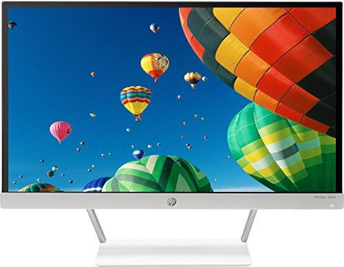 """HP Pavilion 22XW Monitor con Retroilluminazione LED IPS da 54.6 cm/21.5"""", Argento/Bianco"""