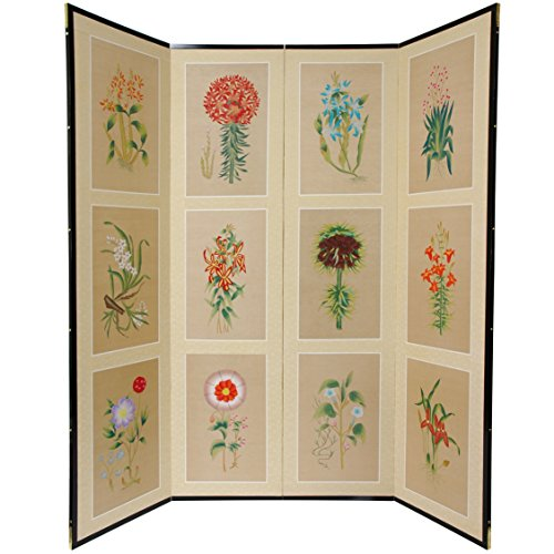 Oriental Furniture 6 Ft Tall 12 Small Flowers Room