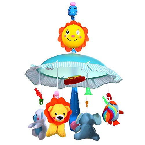 Arshiner Baby Animals Hanging Bell Bed Crib Ring Mobile Around Music Infant Educational Toy (Bell Mobile compare prices)