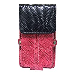 Jo Jo A6 Bali Series Leather Pouch Holster Case For Acer Liquid S1 Duo with dual SIM card slot Red Black