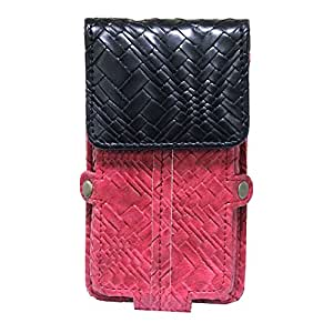 Jo Jo A6 Bali Series Leather Pouch Holster Case For Samsung Galaxy Ace NXT Red Black