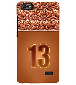 PrintDhaba Numerology Number 13 D-3646 Back Case Cover for HUAWEI HONOR 4C (Multi-Coloured)